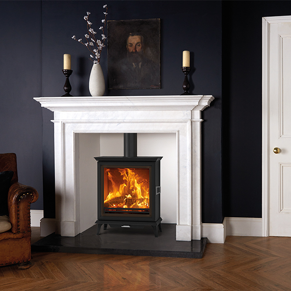 Sheraton 5 Wide WB with Sandringham Antique White Marble mantel