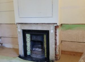 Knock out fireplace surround
