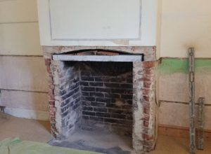 Fireplace knocked away