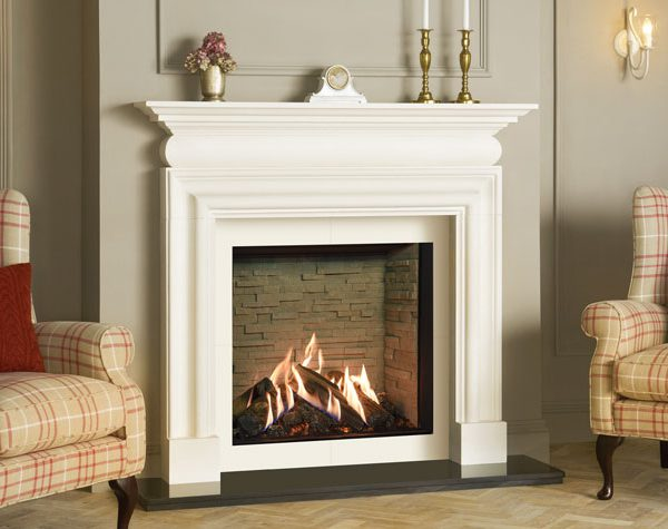 Reflex-75T-Edge-with-Ledgestone-effect-lining-Cavendish-Bolection-limestone-mantel-matching-slip-set-MI