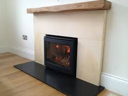 Inset Stove Beam Back Panel and Hearth
